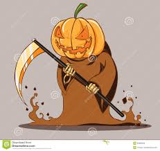 halloween cartoon drawings grim pumpkin head style death halloween stock images image