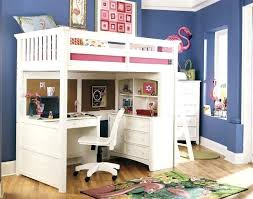 kids loft bed with desk another white wood bed this time with an