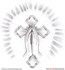 cross and praying tatuagem praying