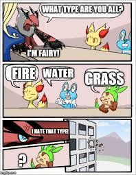 Type Memes - pokemon board meeting imgflip