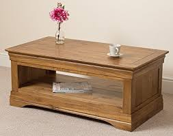 rustic oak coffee table french rustic solid oak coffee table living room amazon co uk