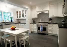 Dark Tile Floor Kitchen - White cabinets dark floor bathroom