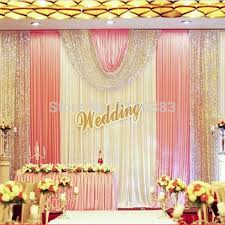party backdrops 3m high x6m white and pink sequin diy wedding stage party