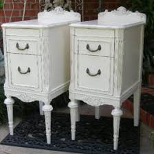 shabby chic nightstand vintage white by inspiremedesigns on etsy