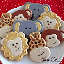 sugar dot cookies jungle animal sugar cookies