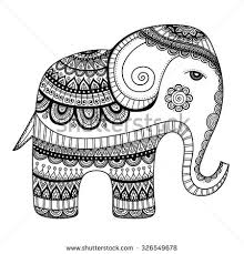 indian elephant hand drawn doodle bishop stock vector 326549678