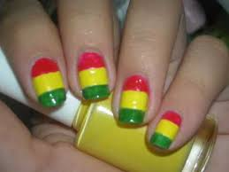 nail design tutorial girly rasta nails youtube