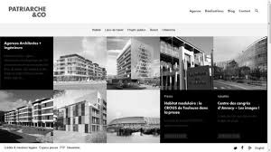 architect website design patriarche and co agency architects engineers webdesign