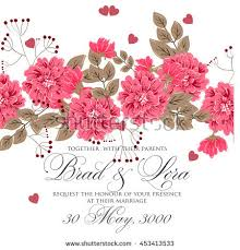 wedding flowers background wedding card invitation abstract floral background stock vector