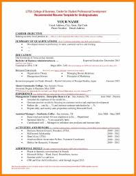 undergraduate curriculum vitae pdf sles 6 sle of a student cv edu techation