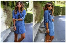 denim dresses womens longline shirt dresses europe and the united