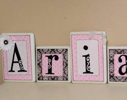 Nursery Wall Decor Letters Wall Designs Personalized Name Wall Letters Decorative