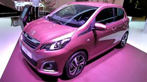 pink car interior 2015 peugeot 108 allure exterior and interior walkaround 2014