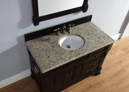 Traditional Bathroom Vanity Units by Abstron 48 Inch Black Finish Single Traditional Bathroom Vanity