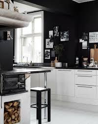 black walls white kitchen cabinets ibwkw47 inspiring black white kitchen wall finest