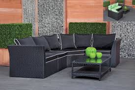 woven patio furniture rattan effect 6 seat patio sofa set centerfieldbar com