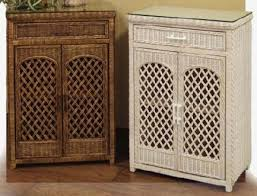 White Wicker Bathroom Drawers Wicker Utility Linen Cabinet Useful In Bathroom Pictured In White