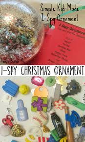 kid made i spy christmas ornament christmas ornament ornament