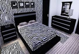 Zebra print room decor with bedroom wall and accessories ideas