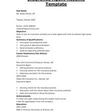 Sample Resume For Insurance Agent Sample Insurance Agent Resume