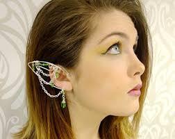 ear cuffs on both ears gold ear cuff elven branch ear cuff choose your