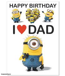awesome 7 perfect minion happy birthday card inside happy birthday