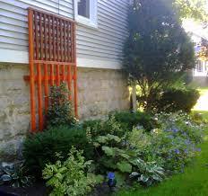 trellis for my garden on side of house garden garden pinterest