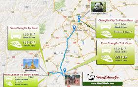 Pandas Map Chengdu Leshan Emeishan Intercity High Speed Train