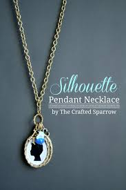 diy necklace charms images Diy silhouette pendant necklace jpg