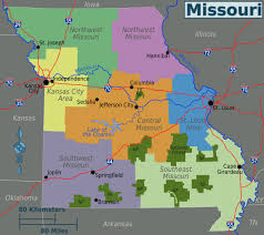 Missouri State Map Large Regions Map Of Missouri State Missouri State Large Regions