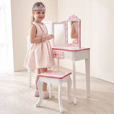 vanity for child amazon com teamson kids fashion prints girls vanity table and