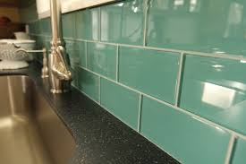 BELK Tile Photo Gallery Backsplash Ideas - Teal glass tile backsplash
