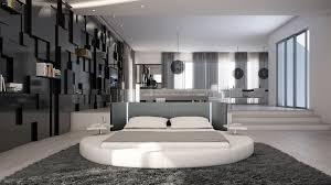 chambre avec lit rond lits design ronds mobilier cuir