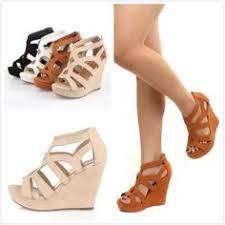 Wedding Shoes Cork Sesmas Strappy Platform Cork Wedges White White Wedges White