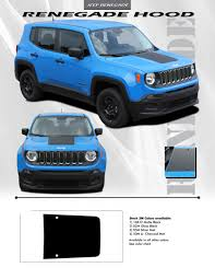 jeep renegade charcoal jeep renegade hood center vinyl graphics stripes 3m decals for
