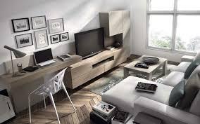 coin bureau dans salon aménagement de bureau moderne dans un salon design living room