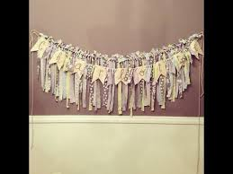 shabby chic fabric banner how to youtube