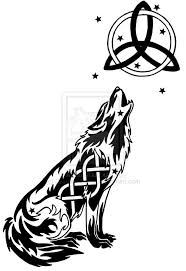 collection of 25 ink celtic moon and tribal wolf tattoos