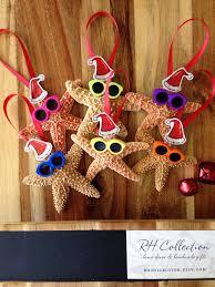 starfish santa ornament authentic starfish on