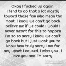 i am sorry sorry for hurting you so much sorry for doing things
