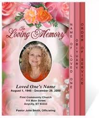 Funeral Program Covers An Elegant Lavender Colored Rose Background With Arched Floral