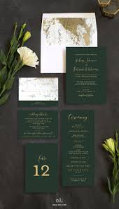 green wedding invitations marble and gold wedding invitation suite with stunning green