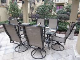 patio 7 patio dining set with umbrella wooden patio furniture