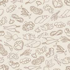 seamless pattern food food seamless pattern with hand drawn vegetables royalty free vector