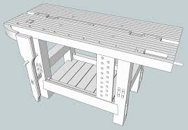 the split top hybrid roubo sketchup u2013 the fameless woodworker