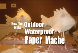 diy waterproof paper mache for outdoor weather resistant crafts