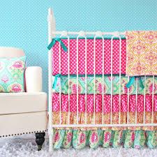 Pink And Aqua Crib Bedding Caden Lane Lila Crib Bedding Home Beds Decoration