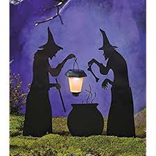 Flying Witch Decoration Amazon Com Light Up Animated Flying Witch Halloween Decorations