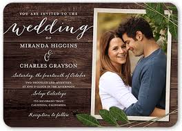 wedding invitations shutterfly ingrained 5x7 wedding invites shutterfly