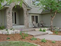 Backyard Walkway Ideas A Beautiful House With Hardscaping Design Front Yard Walkway Ideas